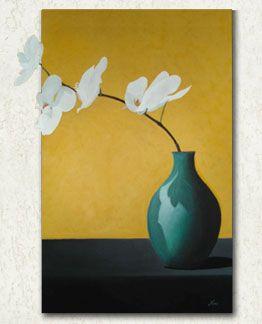 Bloemen schilderij | Acryl schilderijen door Nino Kouwenhoven