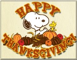 Happy Thanksgiving from Snoopy! :)