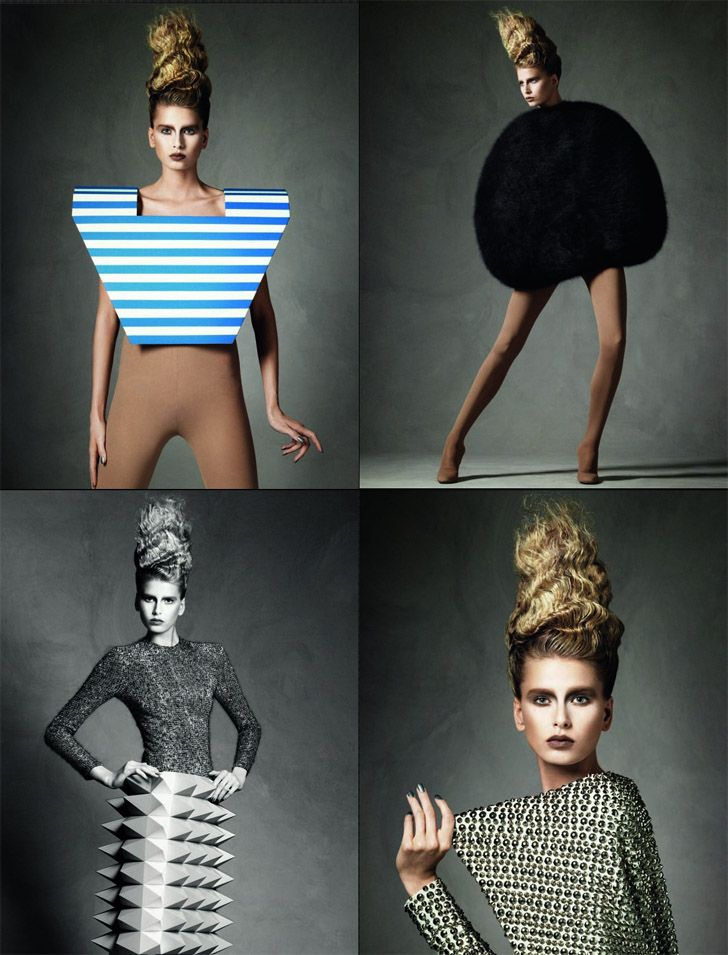 High fashion & unique shapes go hand in hand....