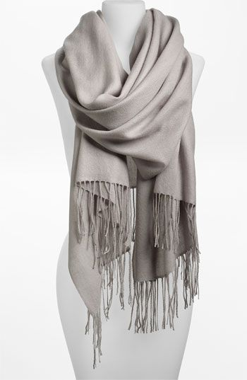Gray Opal color please! Nordstrom Tissue Weight Wool & Cashmere Wrap available at #Nordstrom