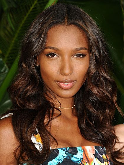 The Best Celebrity Hair-Color Inspiration for Winter: Jasmine Tookes mink brown hair | allure.com