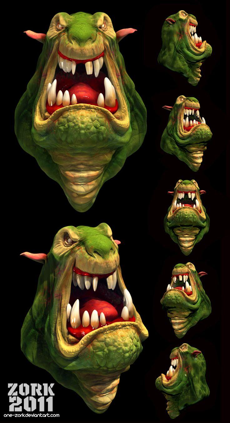 head monster by *thezork on deviantART