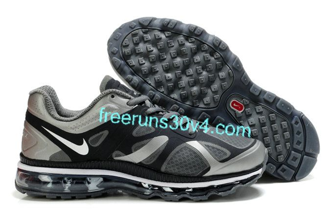 Mens Nike Air Max 2012 Black Grey Silver Shoes http://forinstantpurchase.com/sneakers