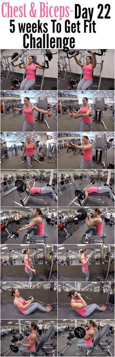 Build bigger biceps with this one trick 5 Weeks To Get Fit Challenge Day 22-Chest Biceps.