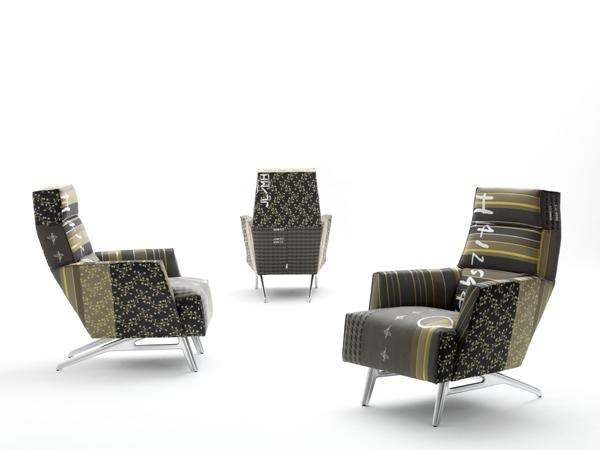 Solo chair limited edition with fabric by Hella Jongerius.  Lable: designonstock. we love this chair, as it brings flavour to our living room