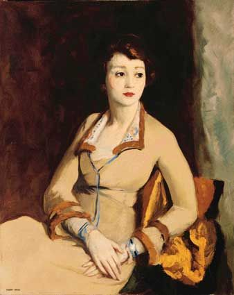 Robert Henri,American Realism,1918,Portrait of Fay Bainter