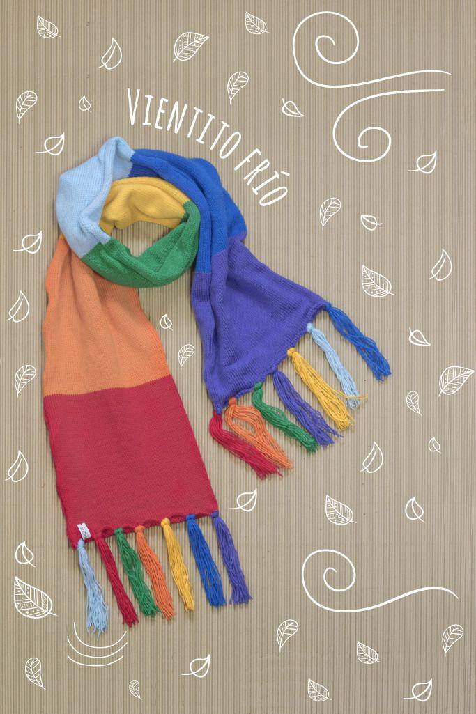 bufanda arcoiris #fw16 #maquis #bufanda #knitt #tejido #arcoiris