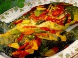 Pepes Ikan Mas - Jawa Barat (grilled golden fish wrapped in banana leaf)
