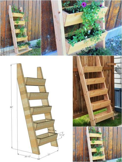 Best 25 Garden Ladder Ideas On Pinterest Herb Planters