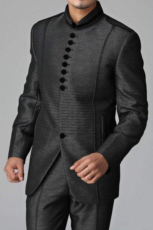 Men Indo Western Formal Jacket Slim Wedding Blazer Trouser Tuxedo Coat Pant Suit