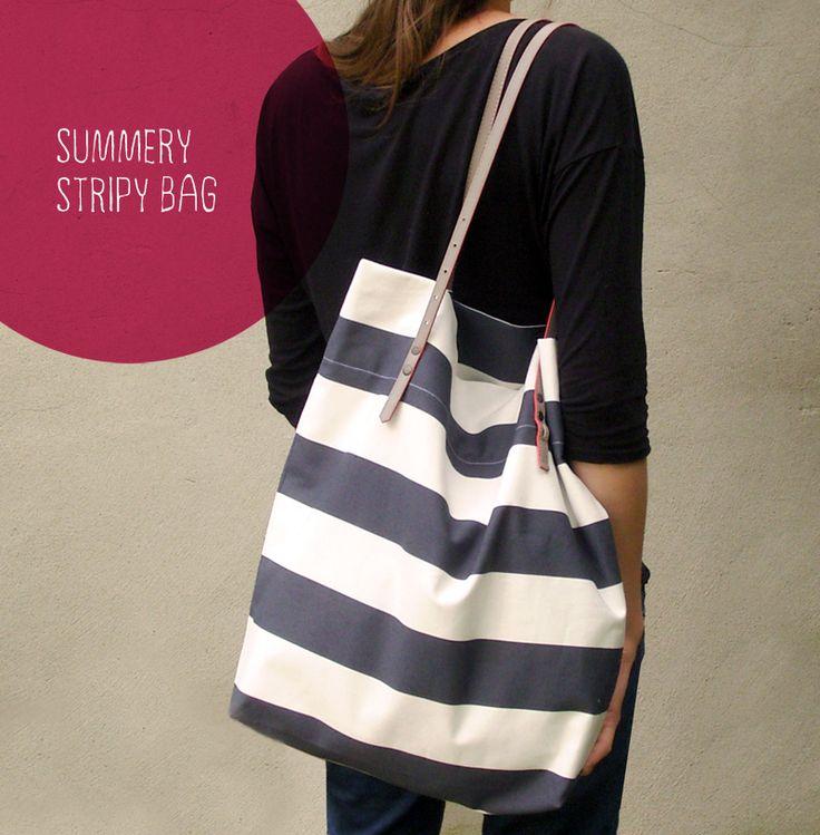 DIY Stripy Bag