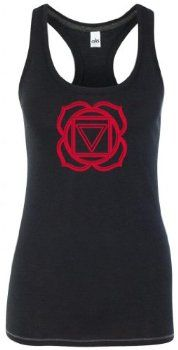 Yoga Clothing For You Ladies Muladhara Chakra Tri-blend Racerback Tank Top