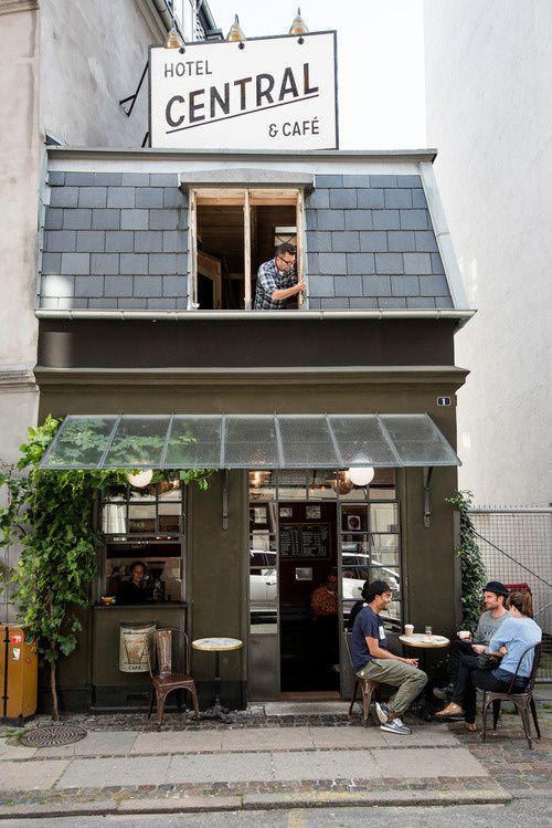 World's smallest hotel (and cafe) lies in Copenhagen! Photo by: Martin Kaufmann