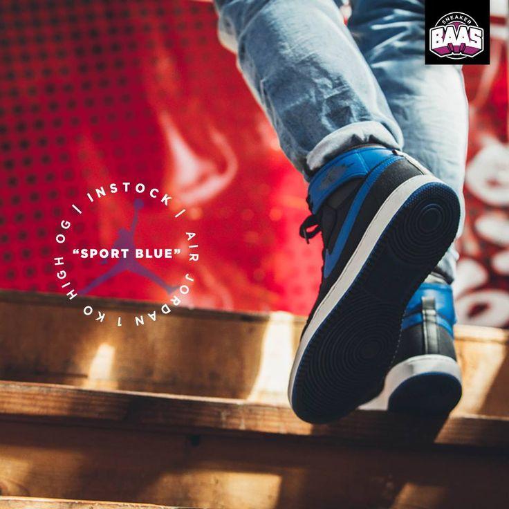 """Air Jordan 1 KO High """"Sport Blue""""   Nu online!   http://www.sneakerbaas.nl/aj1-ko-high-sport-blue.html   #JORDAN #BAAS #SNEAKERBAAS #BAASBOVENBAAS #KO   638471-007"""