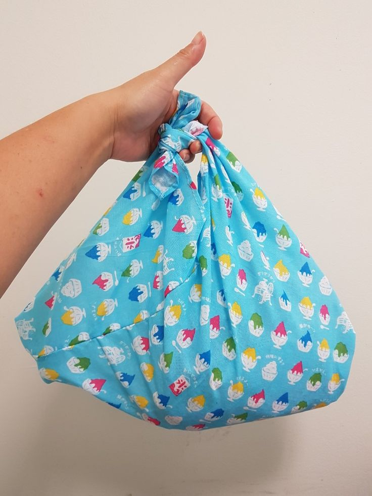 Ice cream jelly print azuma bukuro bag ..entirely handstitched