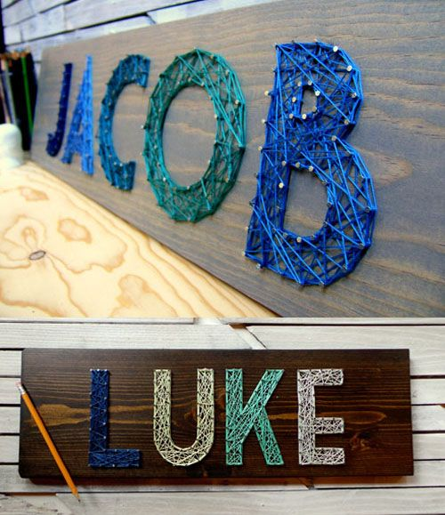 string art name plates