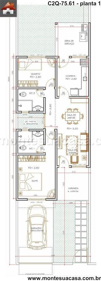 Casa 1 Quartos - 75.61m²