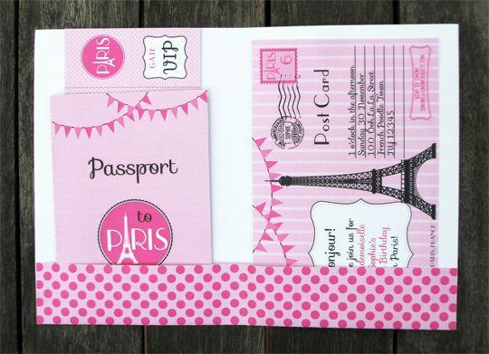 Birthday Party in Paris Passport Folio