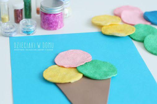 Lody z płatków kosmetycznych - pomysł na pracę plastyczną i świetną zabawę :).…