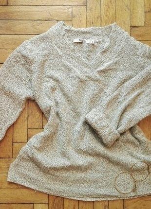 Sweterek siwy #szary miękki #M&Co