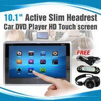 "10.1"" Active Slim Headrest Car DVD Player HD Touch screen Game USB SD RMVB 9"""
