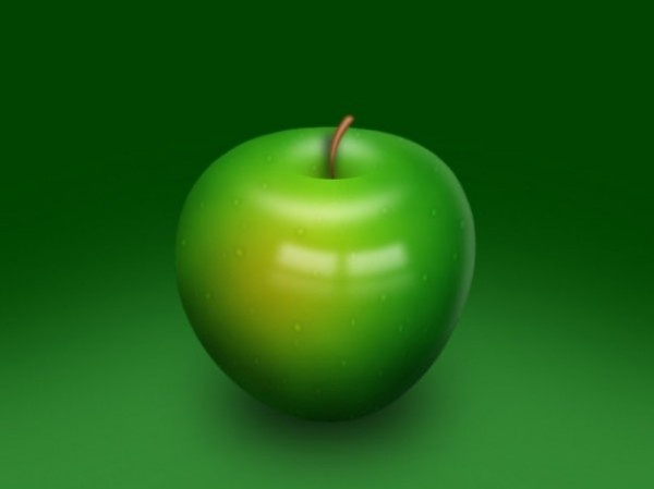 Green Apple Psd Layered Material