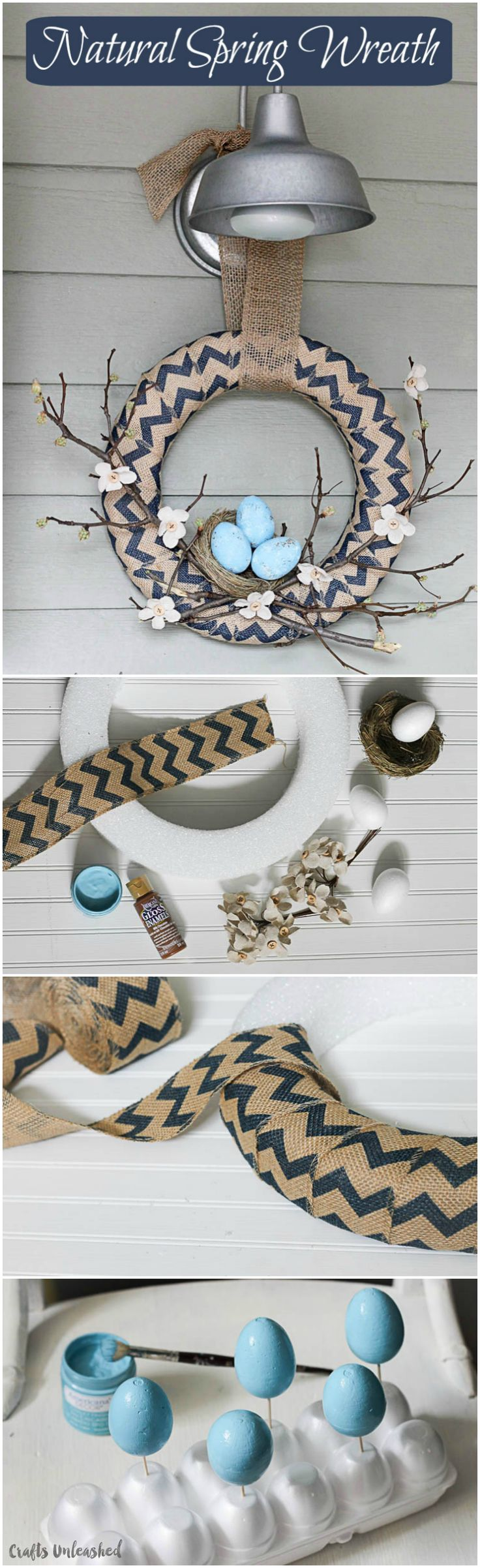 If you're looking for a wreath to take you through Easter into the spring season, this natural spring wreath DIY tutorial is the perfect pick!