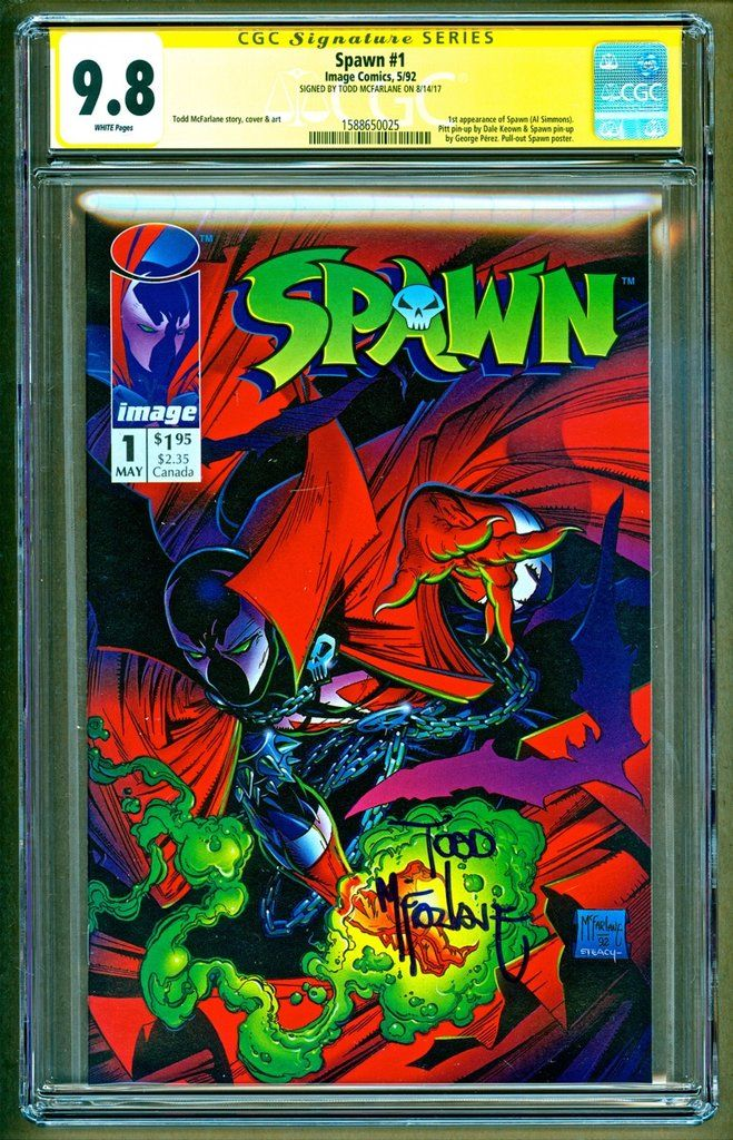 Spawn #1 1992 Image 1st Appearance of Al Simmons Signed Todd McFarlane CGC 9.8