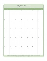 Print a free May 2013 calendar!     To get organized for the holiday season, track your progress on the Christmas Countdown, Holiday Grand Plan, or Houseworks Holiday Plan Christmas organizing plans w