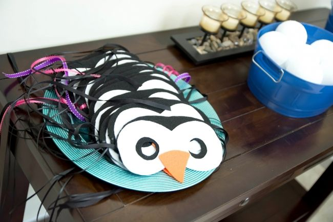 Boys Winter Wonderland Themed Birthday Party Favor Mask Ideas