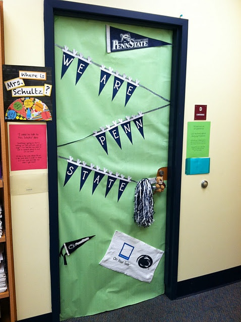 college day - wear alma mater clothing & decorate your classroom/office door to promote college awareness.
