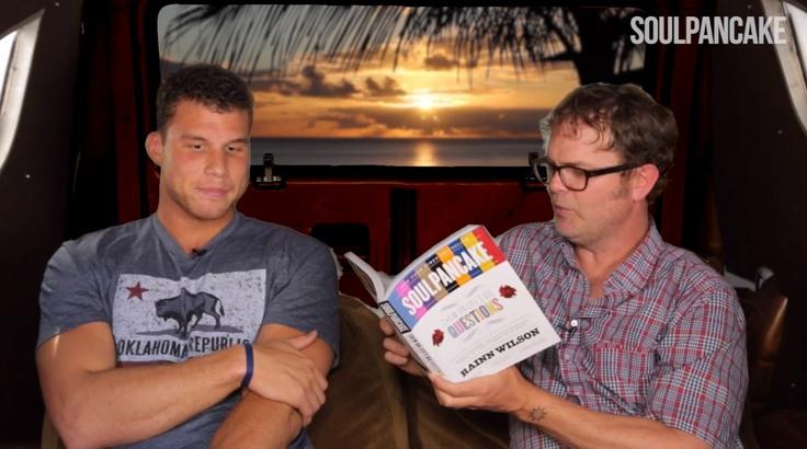 Rainn Wilson Invites Blake Griffin Into His Van (video)