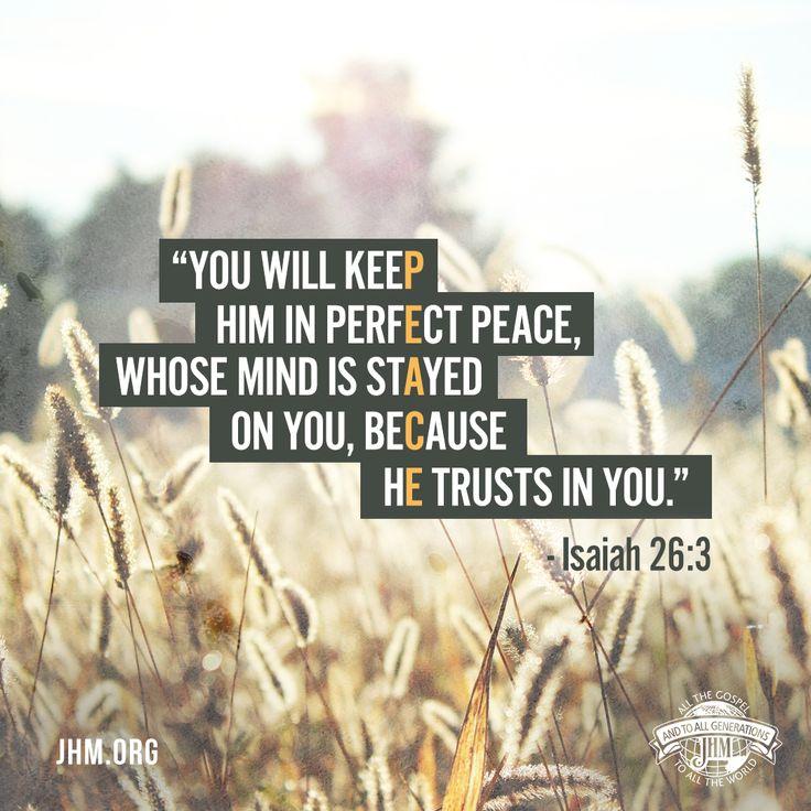 Isaiah 26:3 Perfect Peace