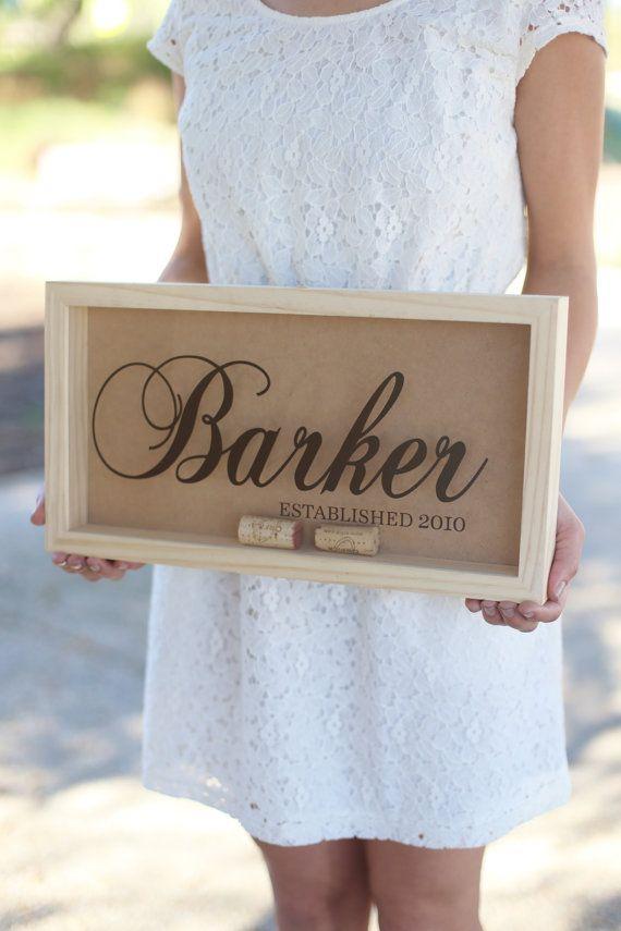 wine wedding shower gift poem%0A Personalized Wine Cork Keeper Custom Wedding Gift by braggingbags