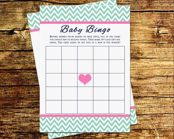 Baby Shower Gift Bingo Printable ~ New baby shower card generator baby shower invitation