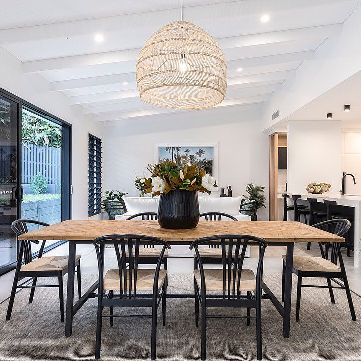 Beautiful Ambience Created In The Heart Of This Home By Churpatbuilding Using Our Hkliving Wick Dining Room Pendant Interior Design Dining Dining Room Design