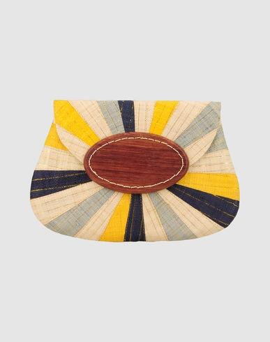 Striped raffia clutch, by Mar Y Sol on Livia Firth's boutique on Yoox