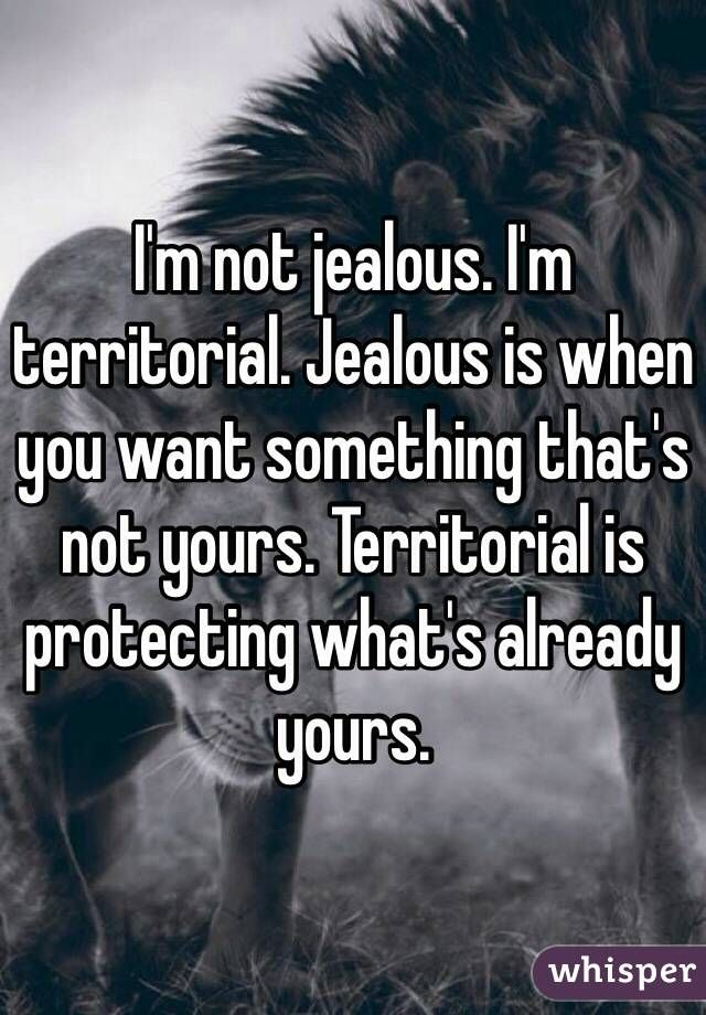 Absolutely. But we all know that. Jealous? NO. Territorial?! Absolutely. What's mine is mine, and that's something that'll NEVER be yours. @goodnight1977