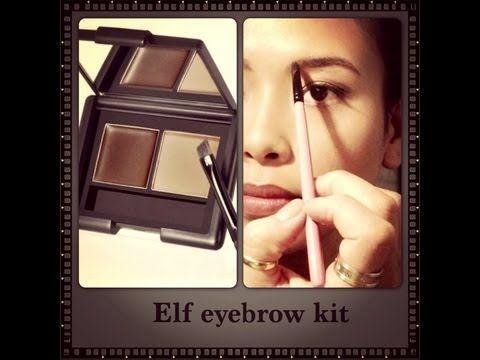 How i Fill My Eyebrow- using ELF eyebrow kit