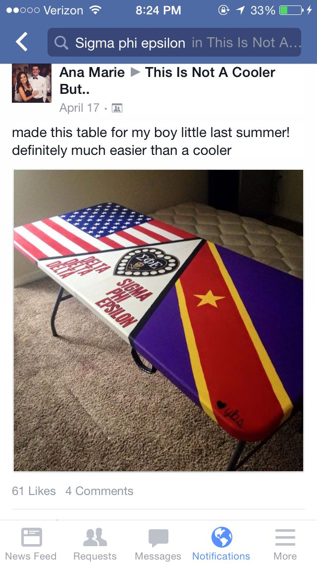 Beer pong table American flag SPE skull heart sigma phi epsilon sigep