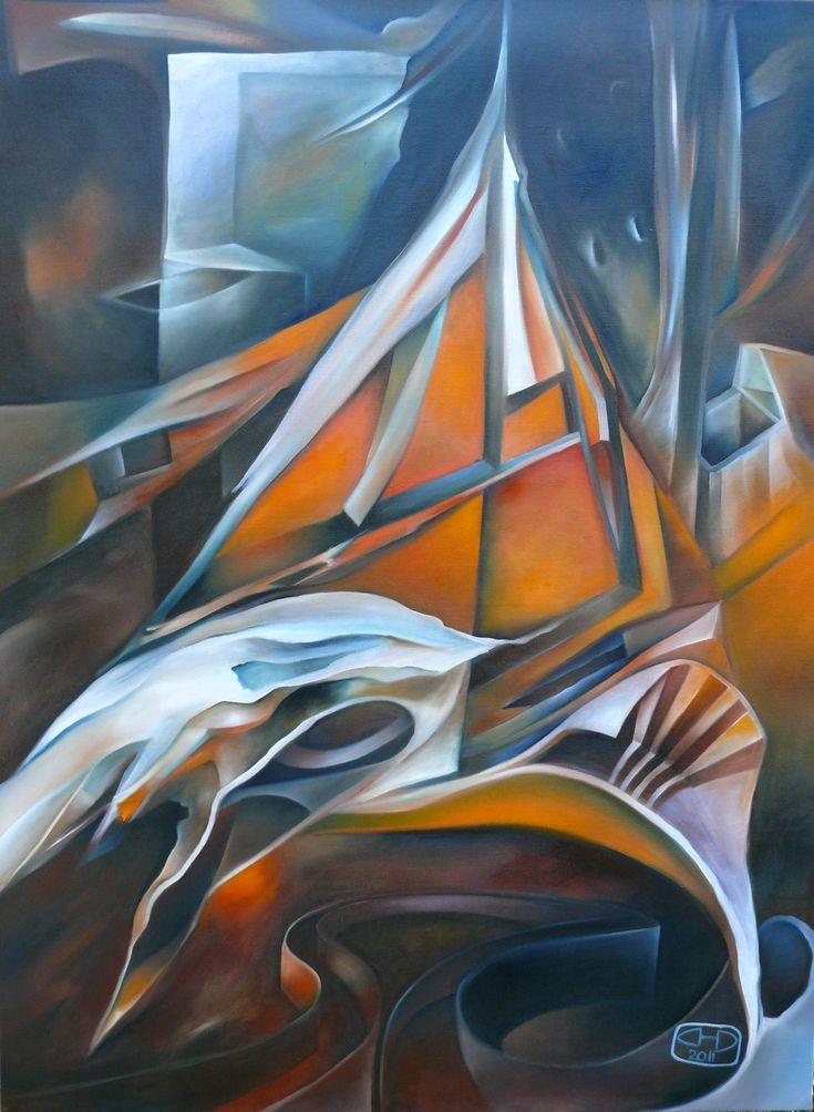 "oil painting - ""Na lovu"""