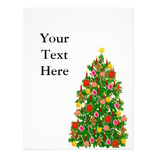 Free Christmas Flyer Boarders Templates | Christmas Tree Flyer flyer