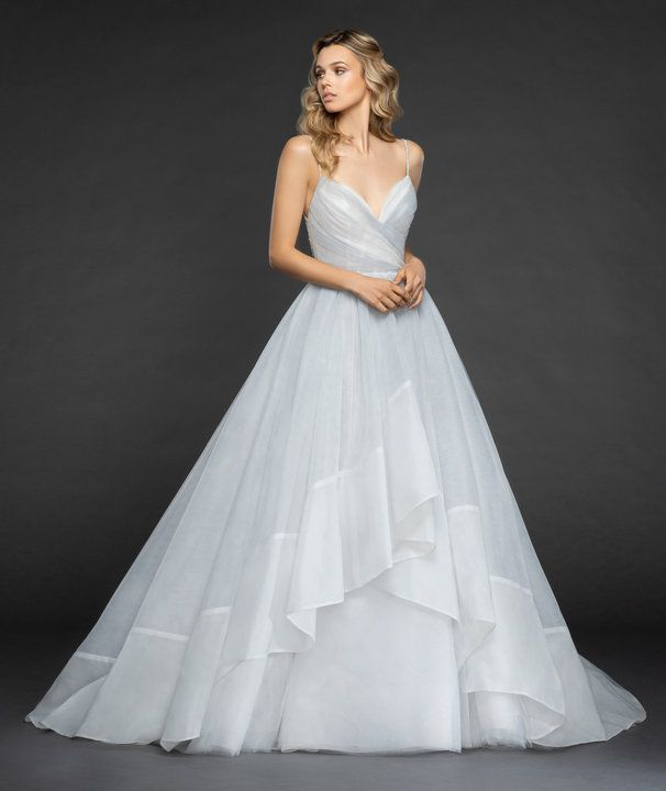Style 6862 Billie Hayley Paige bridal gown – Arctic Moon draped tulle ball gown,…
