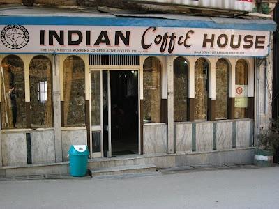 The Indian Coffee House, Shimla. 'Sepia sips' blog.