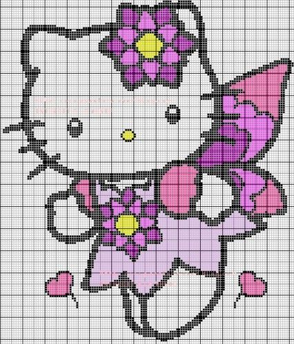 modèle tricot hello kitty