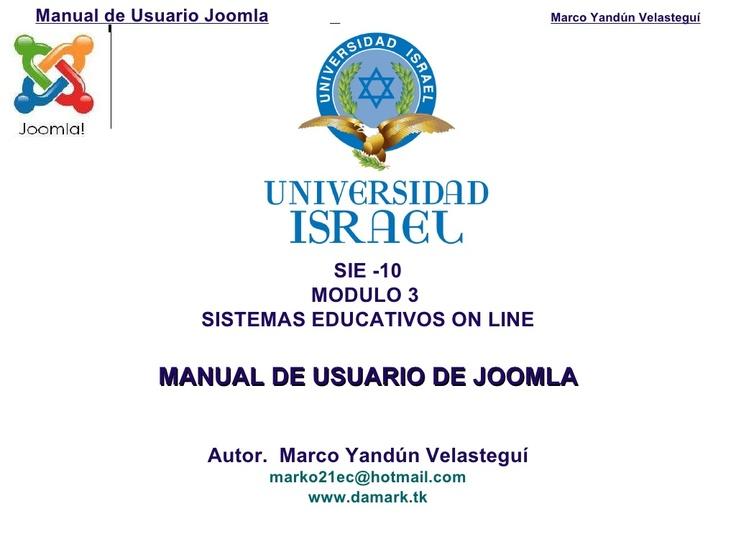 manual-de-usuario-joomla by Marco Yandun via Slideshare