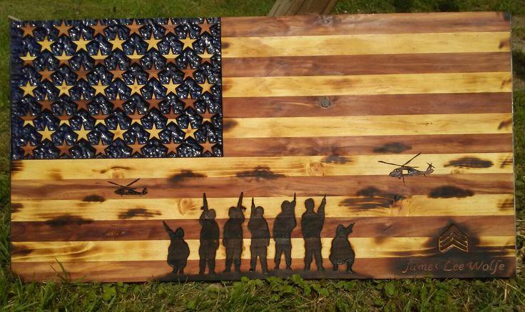 Wooden American flag www.instagram.com/greykingdesigns1