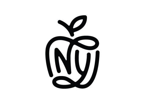 NY Monogram by Nick Slater | typeeverything.com | #nickslater #ny #newyork #typeeverything #logo #design #publicidade #criatividade