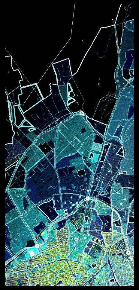 AUTONE - Urban planner who makes his maps look like art piece.