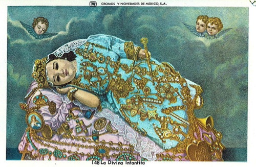 La Divina Infantita    A Mexican print of la Divina Infantita, a much revered image of Mary as a baby.